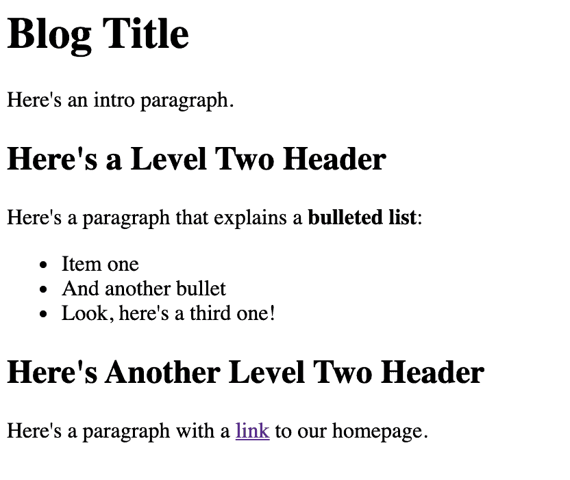 HTML basics blog post example from donelikeamother.com
